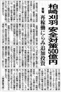 平成25年3月15日付け読売新聞一面